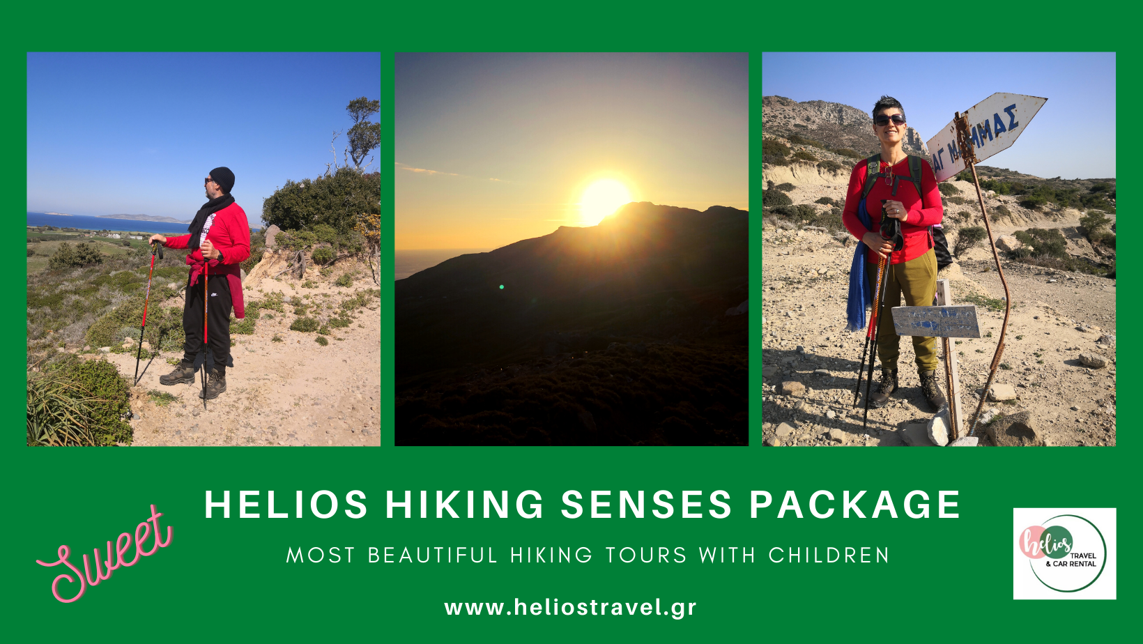 HELIOS HIKING SENSES PACKAGE - Ideal hiking holidays for Familes